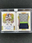 🔥2020 Panini Flawless 2/2 Russell Wilson Autopatch Booklet Seahawks