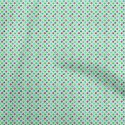 Oneoone Cotton Flex Baby Blue Fabric Donuts Sewing Material Print-ve0