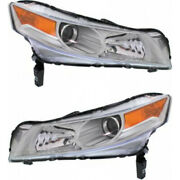 Fits 2009-2011 Acura Tl Pair Headlights Hid Type Driver And Rh