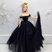 Golden Hollywood 1998 Barbie Doll Redressed In Dramatic Handmade Gown + Coa