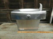Oasis Wall Mount Water Fountain Drinking Fountain Cooler Stainless Used