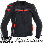 Richa Terminator Black Red Leather And Textile Waterpoof Motorcycle Sports Jacket