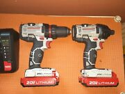 Porter-cable 20v Max Cordless Drill Combo Kit And Impact Driver 2-tool