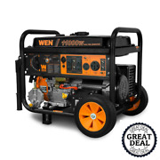 Dual Fuel Gasoline And Propane Powered Electric Start Portable Generator W/ Wheel