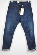 Scotch And Soda Stump Men W30/l32 Cropped Loose Taper Painted Faded Jeans 13885