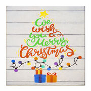 Jg Merry Christmas Table Decorations We Wish You A Merry Christmas Wood Sign