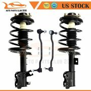 4pc Front Suspension Strut With Sway Bar Links For Nissan Altima 2002-2006