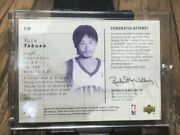 Sold Out Nba Upper Deck Yuta Tabuse Trading Card Rookie Sign Jersey Card F/s