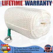 1/2x300and039 Three Strand Docking Rope With Thimble 5850 Pound/lb Anchor Rope Boat