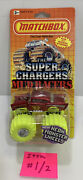 Matchbox Super Chargers And03957 Chevy Monster Truck Yellow Neon Wheels 1990