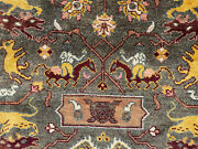 9x12 Oriental Rug Handmade Wool Tribal Hand-knotted Brown Gray Hand-woven Carpet