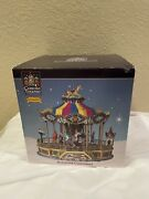 Carole Towne Collection Lemax Belmont Carousel Christmas Village Animated