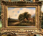 Fine Oil Painting 19th Century By Joesph Thors 1835 -1920 Gold Gilt Frame