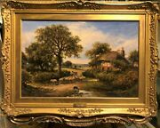 Fine Oil Painting 19th Century By Henry Cooper 1859 -1934 Gold Gilt Frame