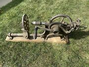 Antique Barn Drill Press Blower And Forge, Cast Iron Kitchener Ontario Hand Crank