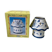 Delft Blue 4andrdquo Candle Lamp Open Box Never Used Great Condition With Box