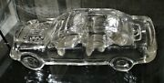 Vintage Car Crystal Clear Glass Car Paperweight