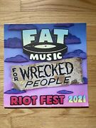 Fat Music For Wrecked People Riot Fest 2021 Comp Colored Vinyl Fat Wreck Nofx
