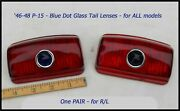 Nos 1946-1948 Plymouth Blue Dot Tail Light Lens Pair P15 Coupe Convertible 1947