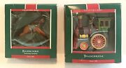 1989 Hallmark Rocking Horse And Locomotive Collector's Series Ornament Lot Of 2