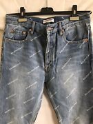 Sold Out,hard To Findbalenciaga All Over Logo Jeans W28-29