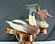 Duck Decoys-red Breasted Mergansers-capt. Billy Mills-crocheron-mated Pair