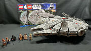 Lego Star Wars 7965 Millennium Falcon Complete W/ Manual And 6 Minifigures Retired
