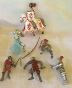 Vintage Schleich Knights Medieval Horse Figures Toys Used Lot Papo
