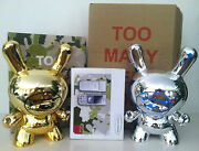 Dunny 8 Set Siemens Too Many Cell Phones Gold Face Chrome Silver Kidrobot 2006