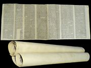 Complete Ancient Esther Scroll Megillah Handwritten On Parchment 80 Yrs Europe