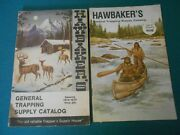 4 Vintage Hawbaker Trapping Supply Catalogs, S Stanley, Trapper, Traps