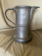 Historical Large Antique Pewter Pub Pitcher John Cockand039s White Horse 1831