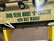 John Deere Tractor And Hay Wagon With Case Knive