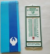 Vintage Nos Metal Wall Thermometer Maricopa By-products Inc. Cattle Grease Farm