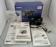 Canon Powershot Sx110 Is 9.0 Mp Digital Camera Black With Strap Tested, Works