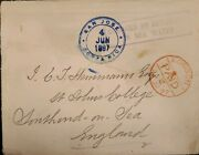 O 1897 Costa Rica Submarine Mail Damage By Immersion In Sea Water From San J