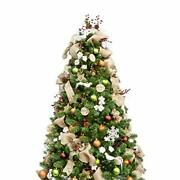 Busybee 6ft Christmas Tree With 300 Leds Lights And Assorted Ornaments Woodland