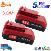 1-4pack 18v Lithium-ion Battery For 3.0ah Porter Cable Pc18b Pc18bl Pc18blx Tool