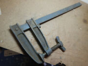 Vintage Large Hartford Clamp Co. Bar Clamp Woodworking Tool From Pattern Shop