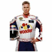 Ricky Bobby Racing Nights Wonder Bread Speed White Leather Motorcycle Jacket