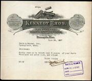 1927 Minneapolis - Kennedy Brothers Guns Smith And Wesson - Fire Arms Letter Head