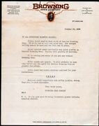 1936 St Louis - Browning Arms Co - Gun Rifle - Color Letter Head Rare History