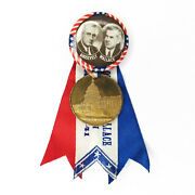 President Franklin D Roosevelt Henry Wallace Inauguration 1941 Pin Button Ribbon