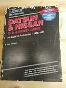 Clymer Super Shop Manual For Trucks Datsun And Nissan Manual 1970 - 1987 T892