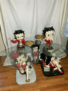 Rare Betty Boop Statue Collection - Coffee Tables Tray Holders Lamp