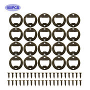 100 Pcs Wall Mount Bottle Openers Vintage Bronze Opener W/ Screws For Bar Party