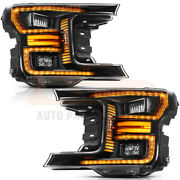 Fits Ford F150 2018-up Led Headlamps Headlights Front Turn Signal Light Pair Set