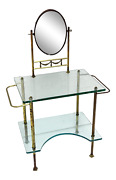 Deco Glass Vanity Makeup Table Coiffeuse French Bathroom Furniture
