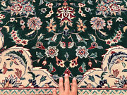 10x14 Green Vintage Rug Hand-knotted Wool Oriental Silk Handmade China Chinese