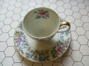 Meito Norleans Grayson Cup And Saucer Made In Occupied Japan Multicolor Flowers